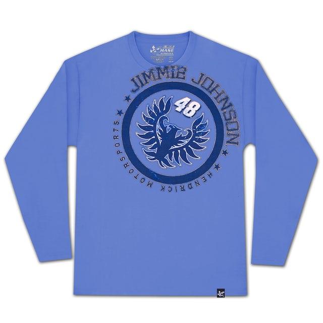 Jimmie Johnson #48 Metal Sheet Long-Sleeved T-shirt
