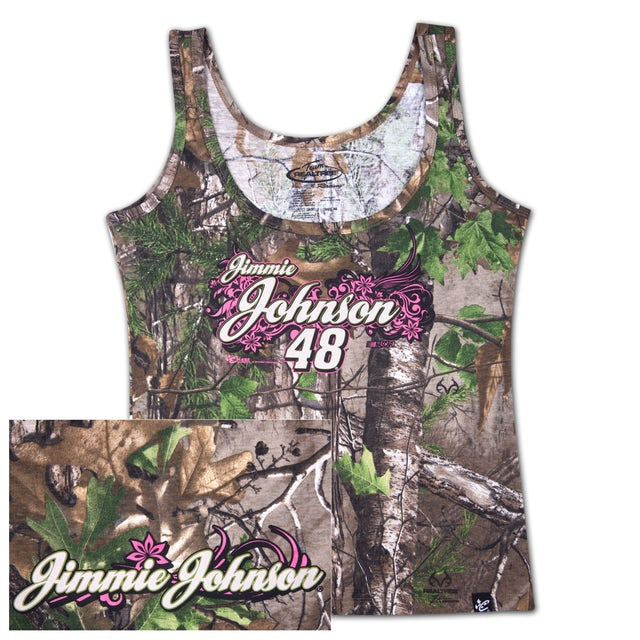 Jimmie Johnson #48 Ladies Realtree Xtra Green Decoy Tank