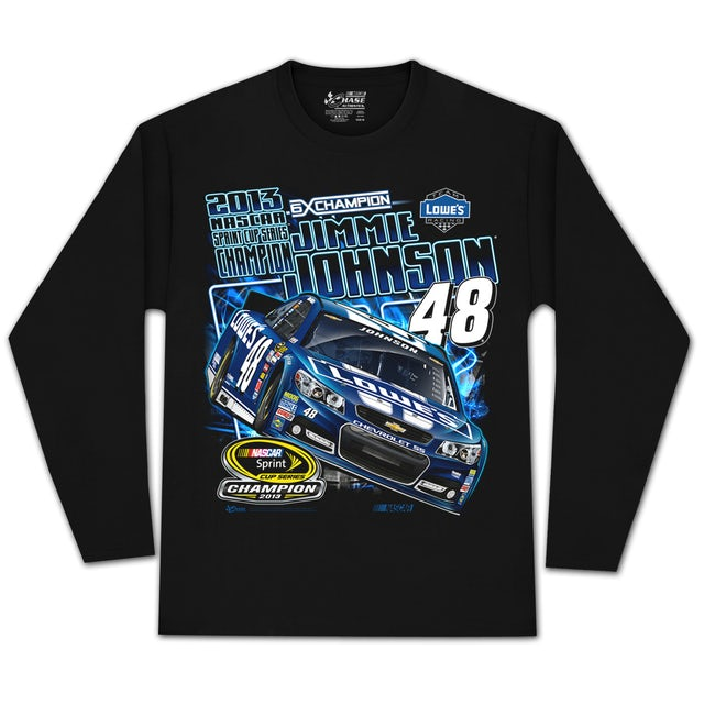 Jimmie Johnson #48 2013 Sprint Cup Champion Long-sleeve T-shirt