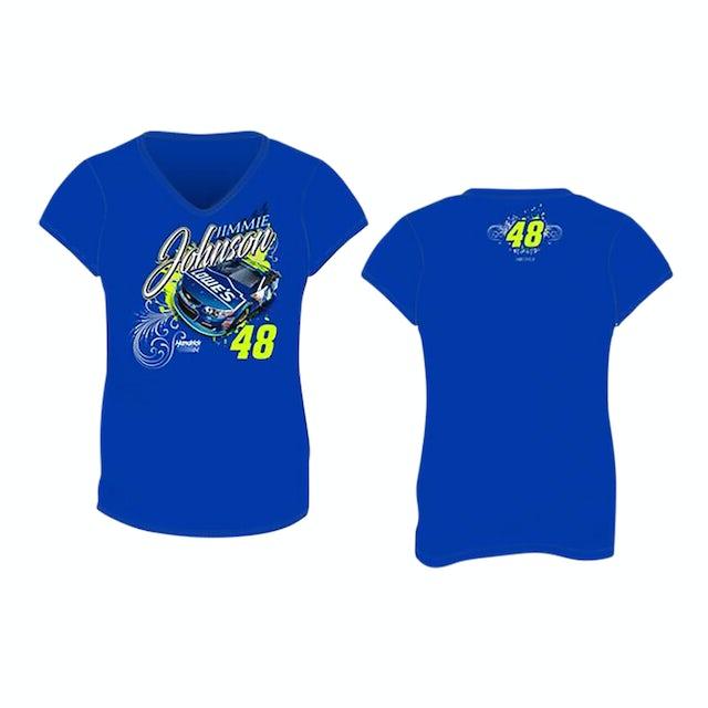 Jimmie Johnson #48 2017 Lowes Ladies V-neck T-shirt