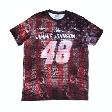 Jimmie Johnson 2018 #48 American Performance Total Print T-shirt