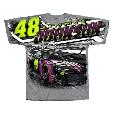 #48 NASCAR Jimmie Johnson Ally Financial Gray All Over Print T-shirt