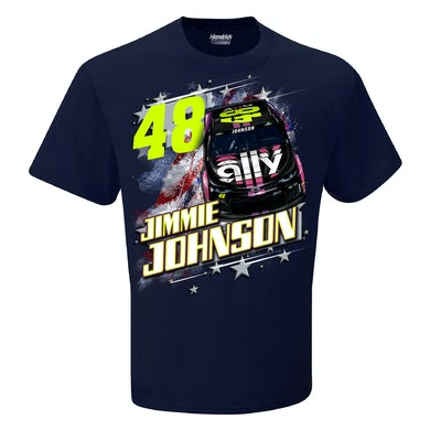 #48 NASCAR Jimmie Johnson Ally Financial Patriotic Car T-shirt