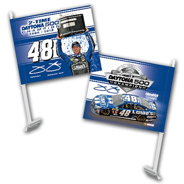 Jimmie Johnson #48 2013 Daytona 500 Champion Car Flag