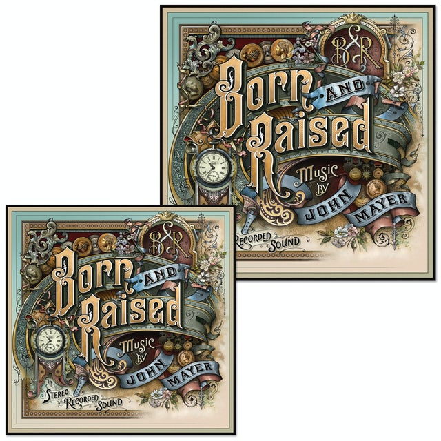 John Mayer Born and Raised Vinyl Sticker Set