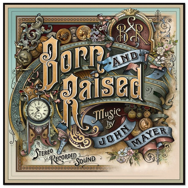 John Mayer Born and Raised Limited Edition Embossed Lithograph