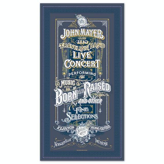 John Mayer Noblesville, IN Event Poster