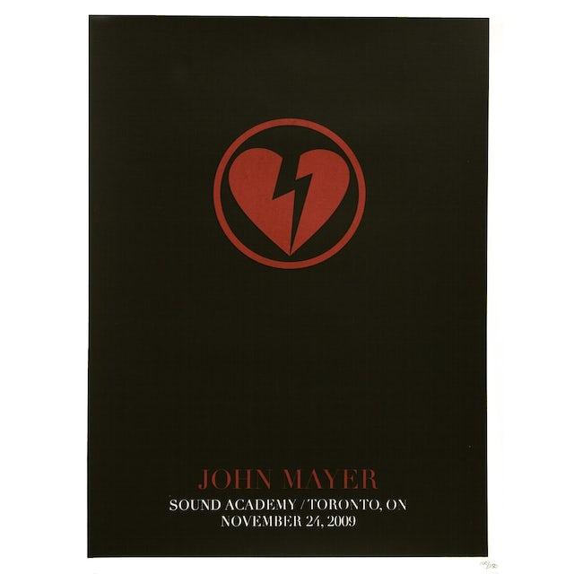 John Mayer Poster 11-24-2009 Toronto