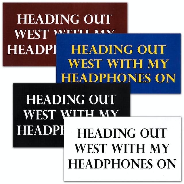 """John Mayer """"Heading Out West"""" Stickers"""