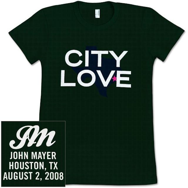 John Mayer - CITY LOVE (Houston) Girls T-Shirt