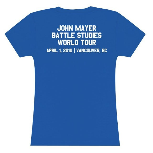 John Mayer Womens Vancouver Event T-Shirt