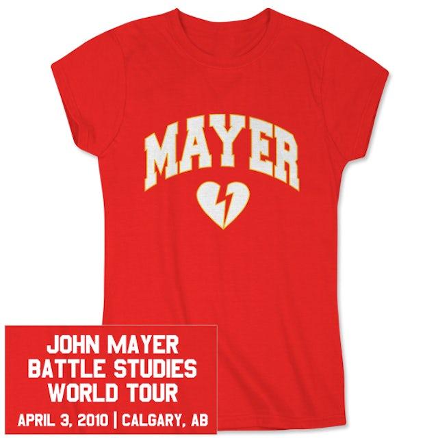 John Mayer Womens Calgary Event T-Shirt
