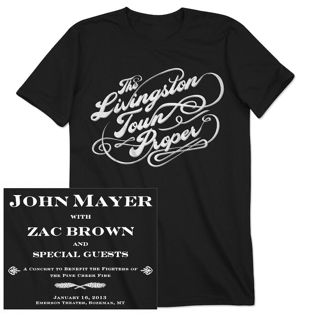 "John Mayer JM ""Livingston Town Proper"" Unisex Event T-shirt"