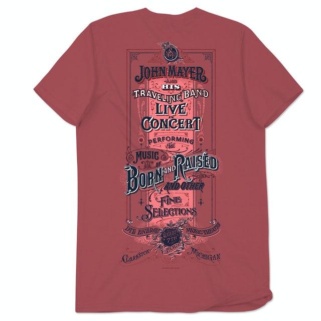 John Mayer Clarkston, MI Event T-Shirt