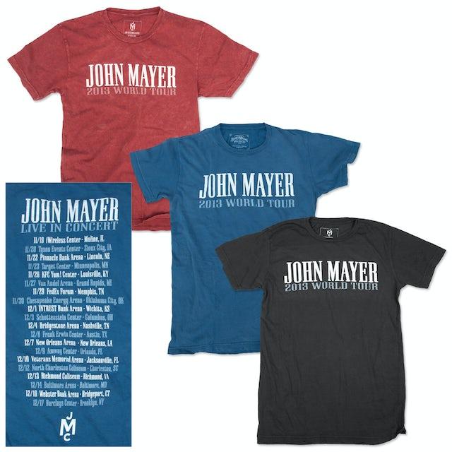 John Mayer 2013 World Tour T-shirt