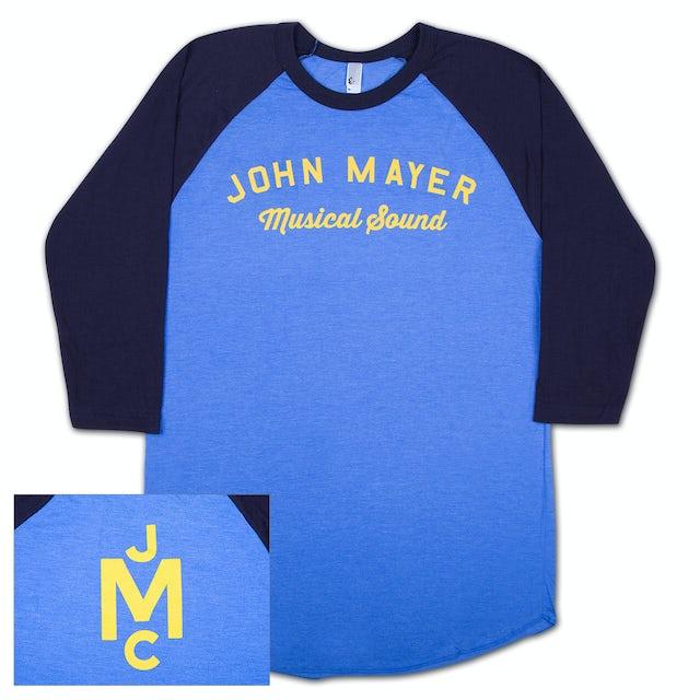 John Mayer Musical Sound Raglan-Yellow Print