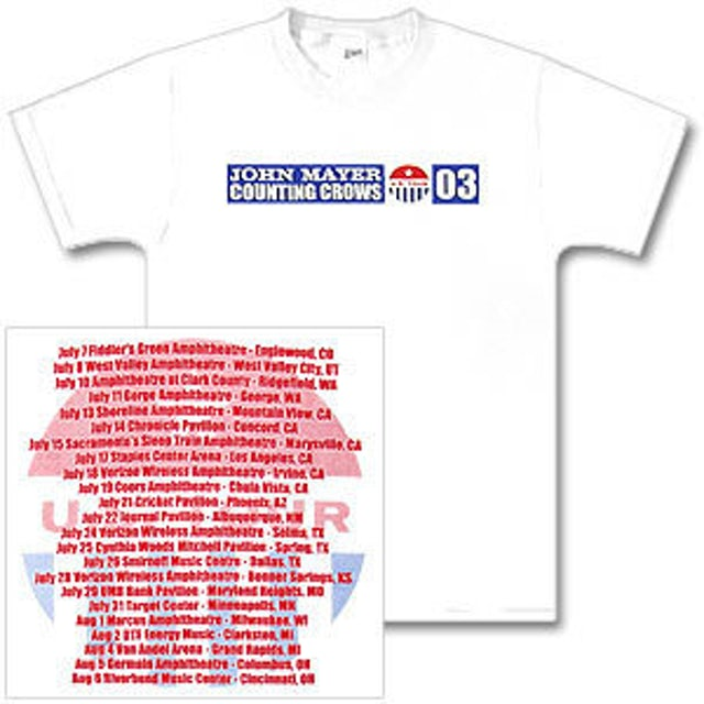 John Mayer/Counting Crows Summer 2003 Tour Shirt