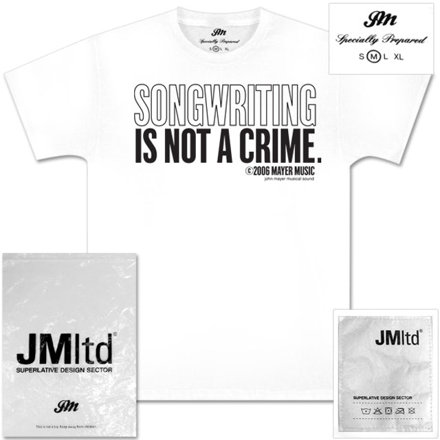 John Mayer - Songwriting is not a Crime T-Shirt