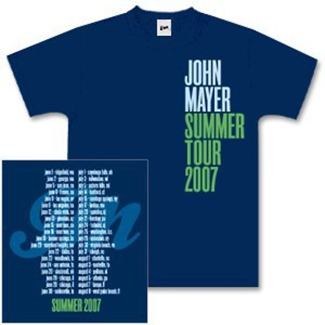 John Mayer 2007 Summer Tour T-Shirt