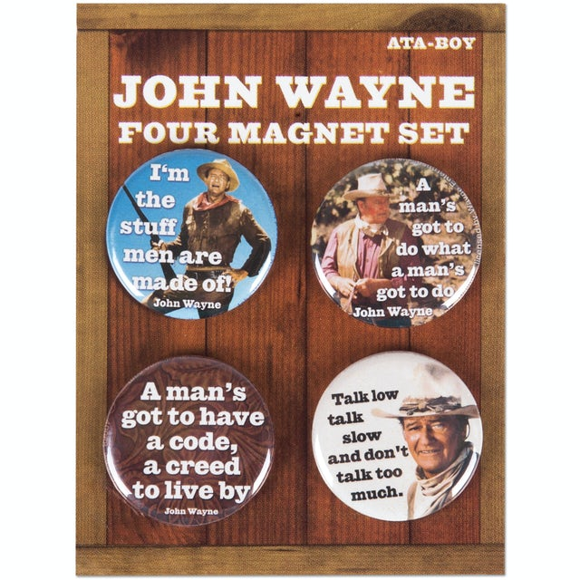 John Wayne Quotes Round Magnet Set