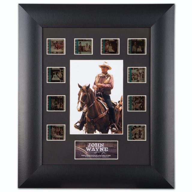 """John Wayne Film Cell Mini Montages 11"""" x 13"""" Framed Collectable Picture"""