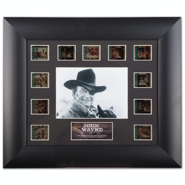 "John Wayne Mini Montages 13"" x 11"" Framed Film Cell Collectable Picture"