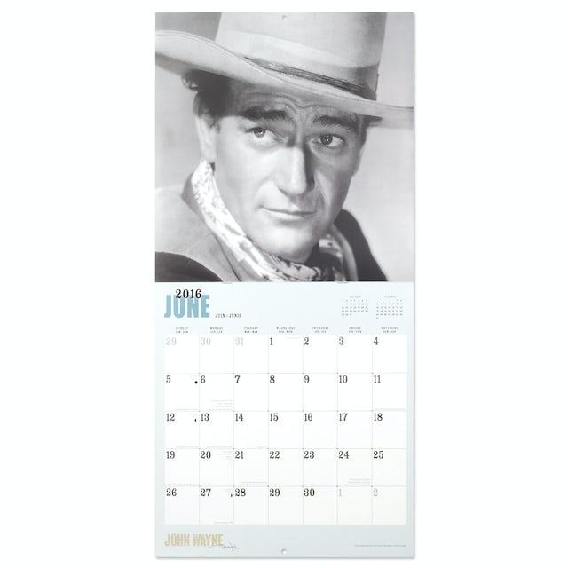 John Wayne 2016 12x12 Calendar