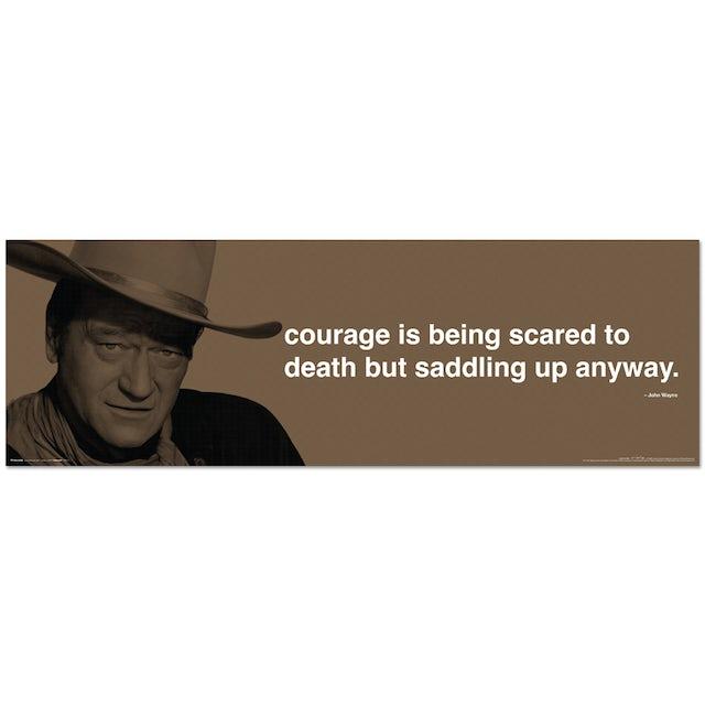 John Wayne Courage 11.75x36inch Slim Print