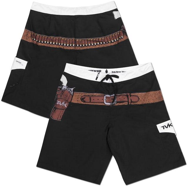 """John Wayne Tavik """"Shooter"""" Board Shorts Black"""