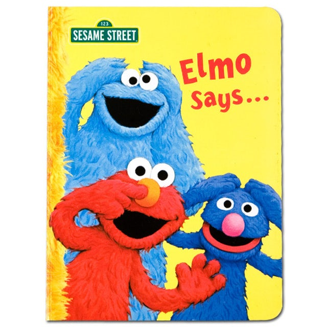 Sesame Street Elmo Says Book