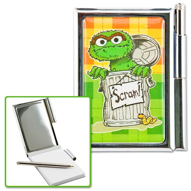 Sesame Street Oscar Metal Notebook w/ Pen