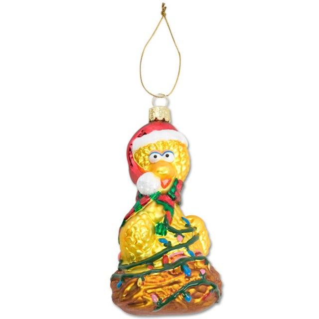 Sesame Street Big Bird Nest Glass Ornament