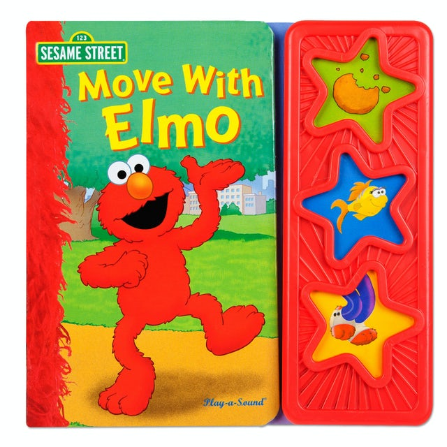 Sesame Street Move with Elmo 3 Button Sound Book