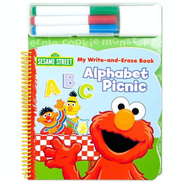 Sesame Street Elmo Write & Erase Alphabet ABC Book