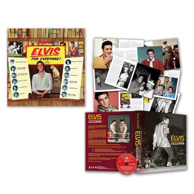 Elvis Presley For Everyone CD and Best of British (book w/ CD) Bundle