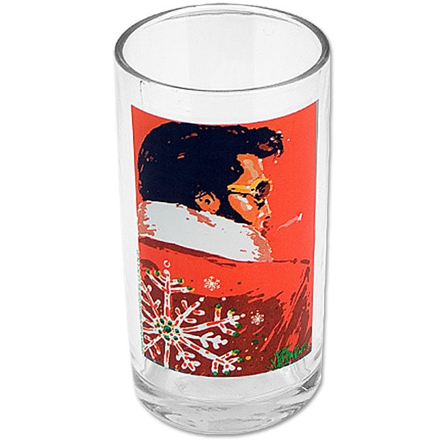 Elvis Presley Holiday Juice Glass