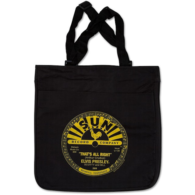 Elvis Presley That's All Right Black Tote Bag