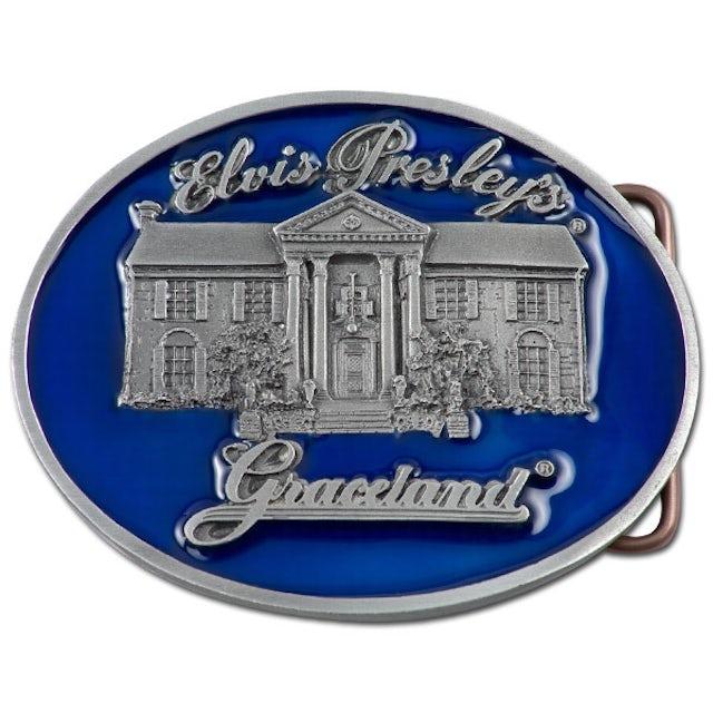 Elvis Presley Blue Graceland Belt Buckle