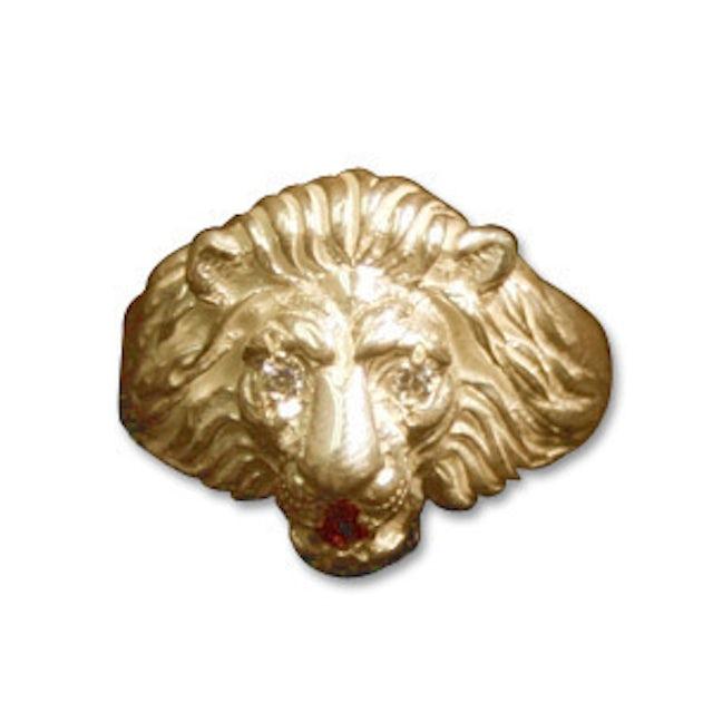 Elvis Presley Lion Head 14K Gold / Diamond Ring - Women's Size