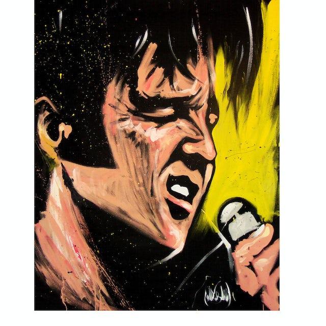 Elvis Presley 68 Comeback Special Art Print by David Garibaldi - 30 by 40 inches