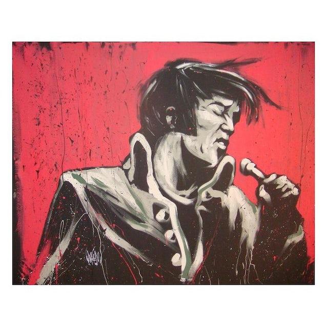 Elvis Presley Revolution Art Print by David Garibaldi