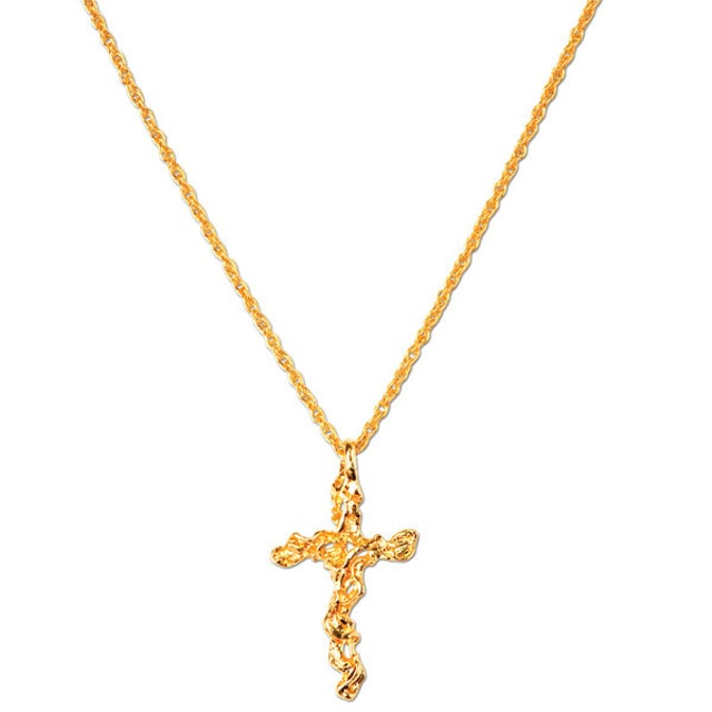 Elvis Presley Adjustable Nugget Cross Necklace