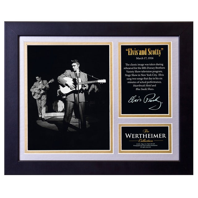 Elvis Presley and Scotty Framed and Matted Photo