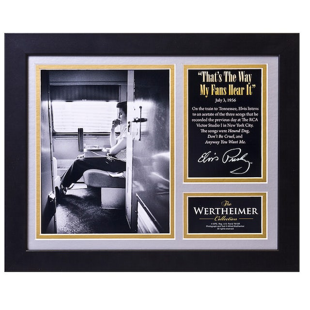 Elvis Presley Way My Fans Hear It Framed and Matted Photo