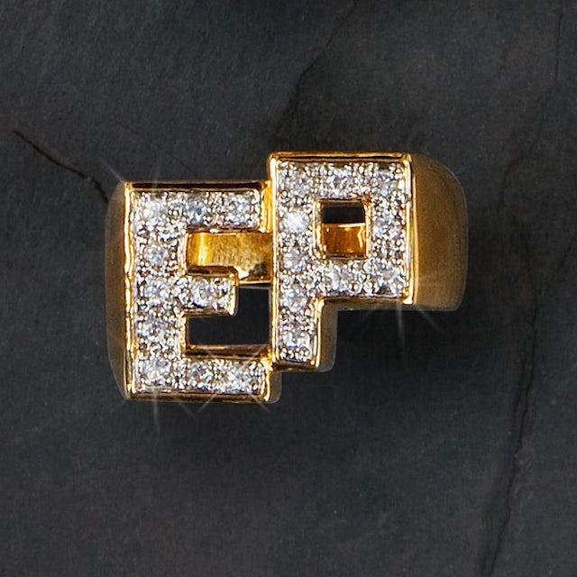Elvis Presley 18 kt Gold Plated Initials Ring (Vinyl)