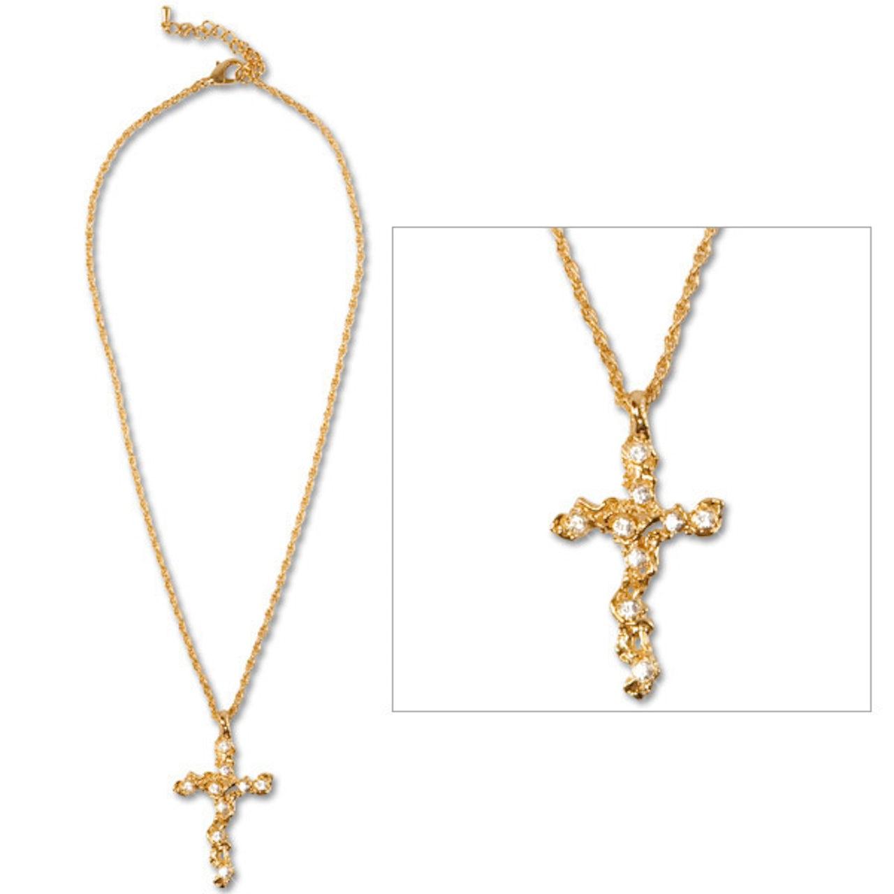 Elvis Presley Swarovski Cross Necklace