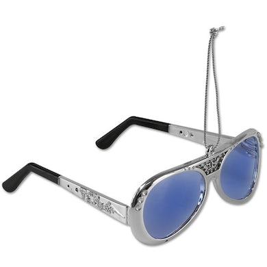 Elvis Presley 70's Silver Sunglasses Ornament