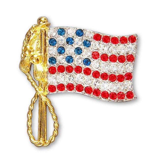 Elvis Presley American Flag Pin