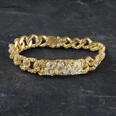 Elvis Presley 18kt Gold Plated ID Bracelet