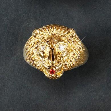 Elvis Presley 18kt Gold Plated Lion Head Ring